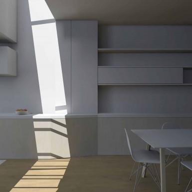 Rénovation, extension d'une maison mitoyenne à Bruxelles